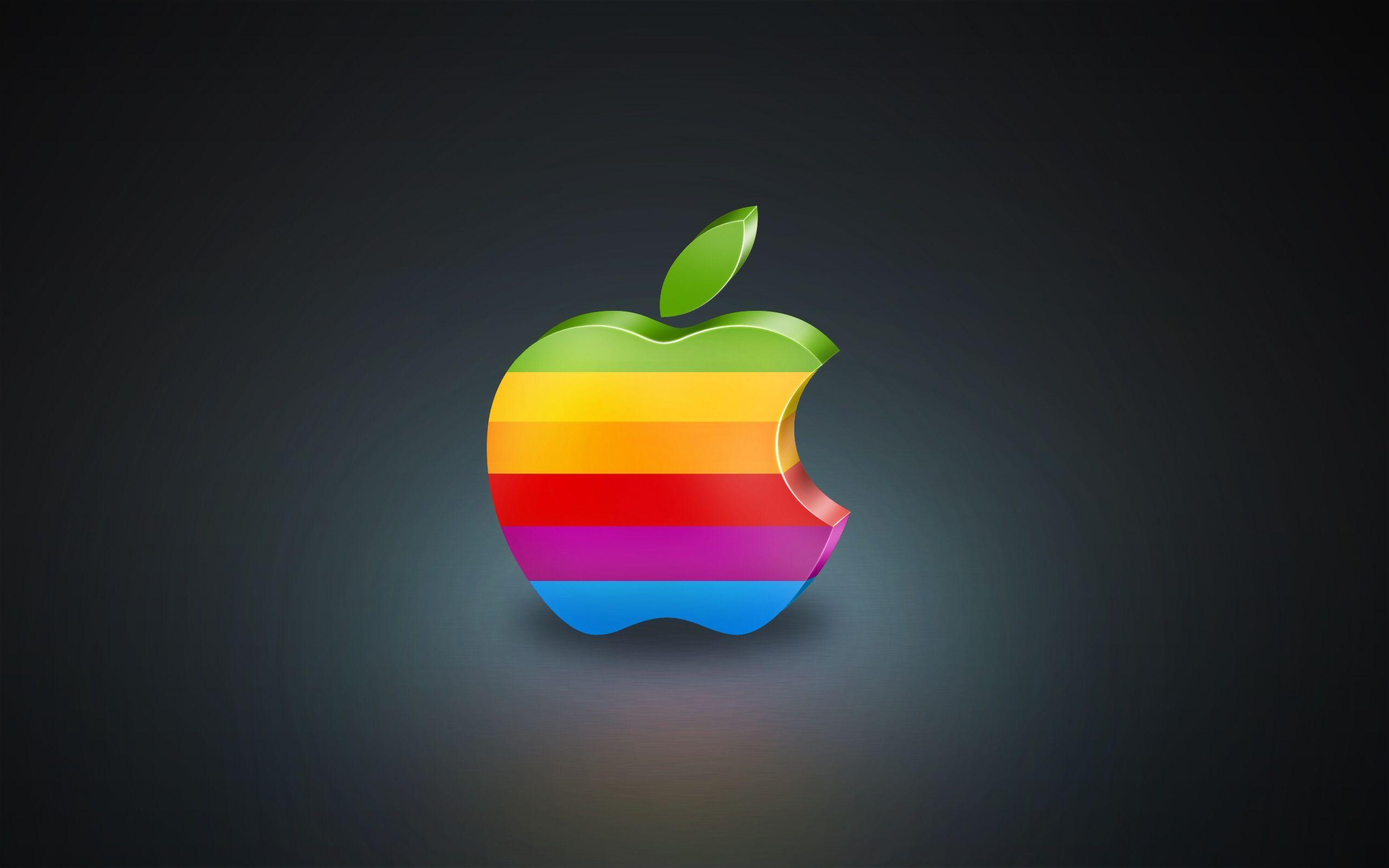 3d colorful apple wallpaper #3d, #apple, #colorful, #computers