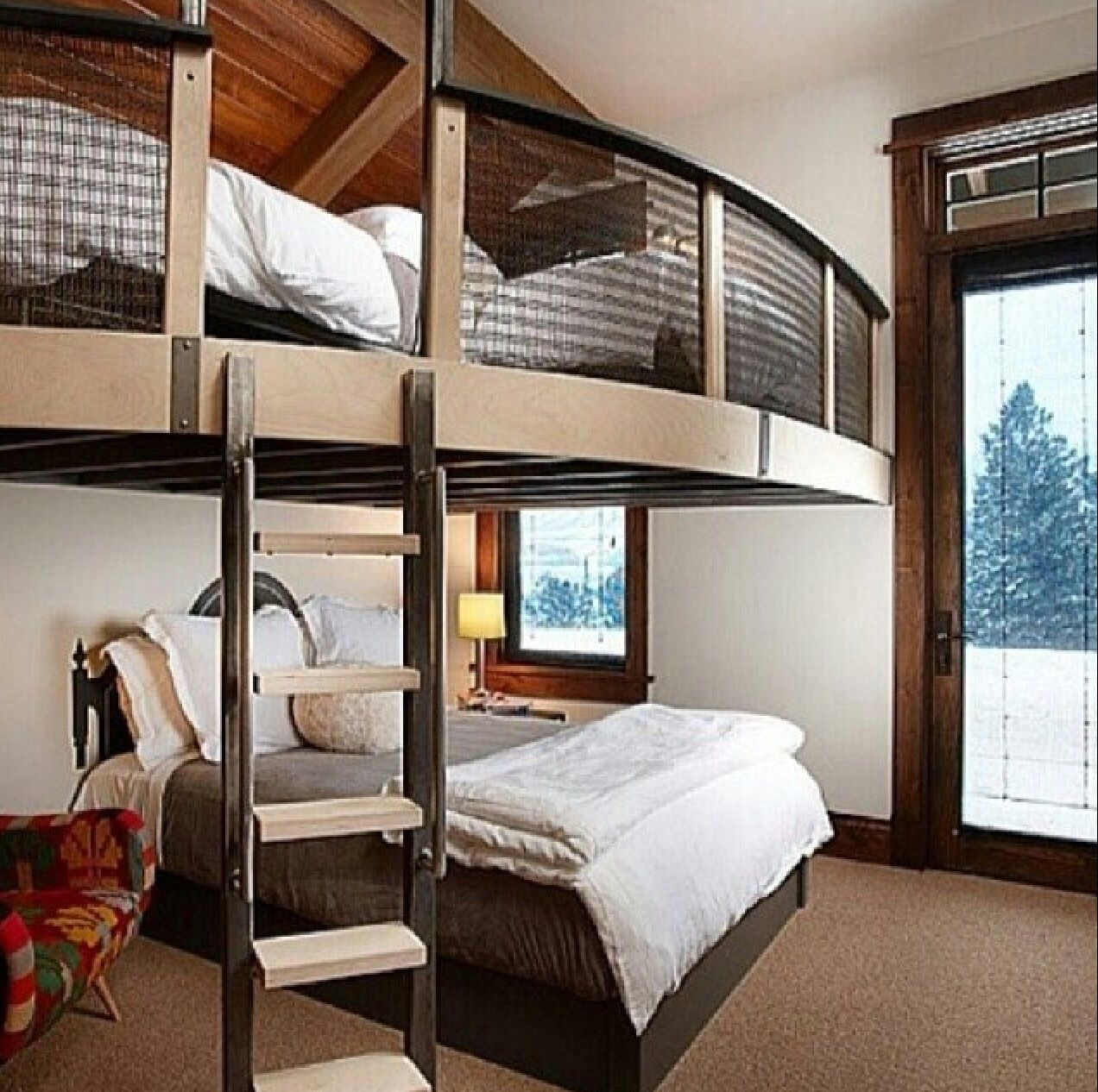 chambre d 39 invit s avec deux lits home ideas pinterest lit lit mezzanine adulte et mezzanine. Black Bedroom Furniture Sets. Home Design Ideas