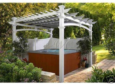 Pergola Over Spa Hot Tub Outdoor Hot Tub Backyard Hot Tub Patio
