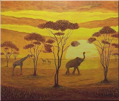 Artiste peintre d 39 afrique magnifique peinture africaine - Africaine dessin ...