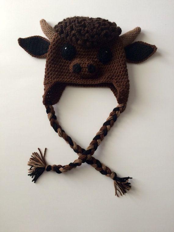 3d5df0ec Crochet Buffalo Hat by SewOnCrafts on Etsy | Crochet | Crochet ...