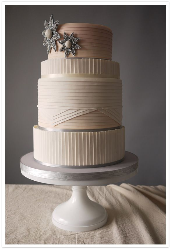 Wedding cake modern  Elegant wedding cake Charm City Cakes' 2012 Summer Collection ...