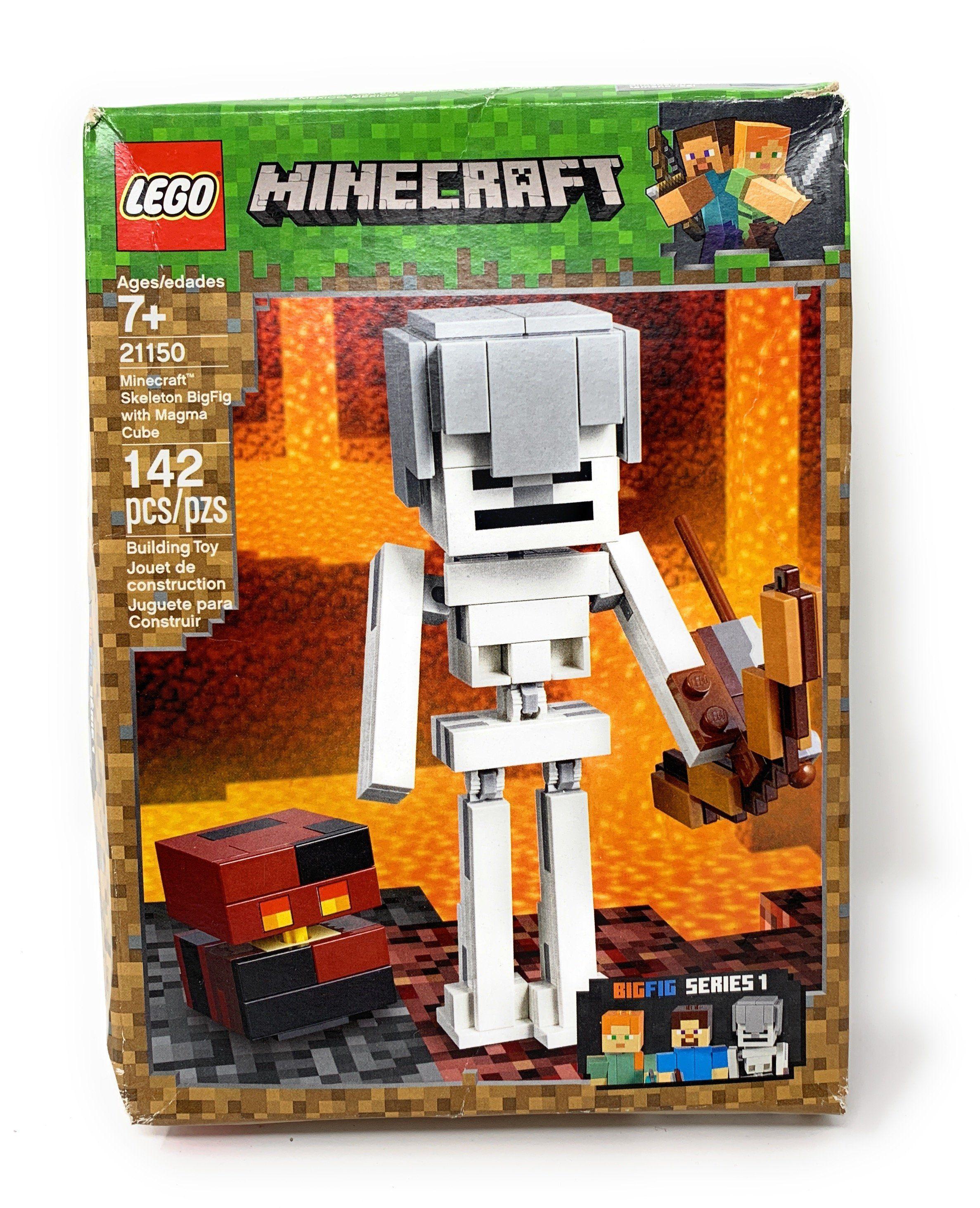 Lego Set 21150 Minecraft Skeleton BigFig with Magma Cube