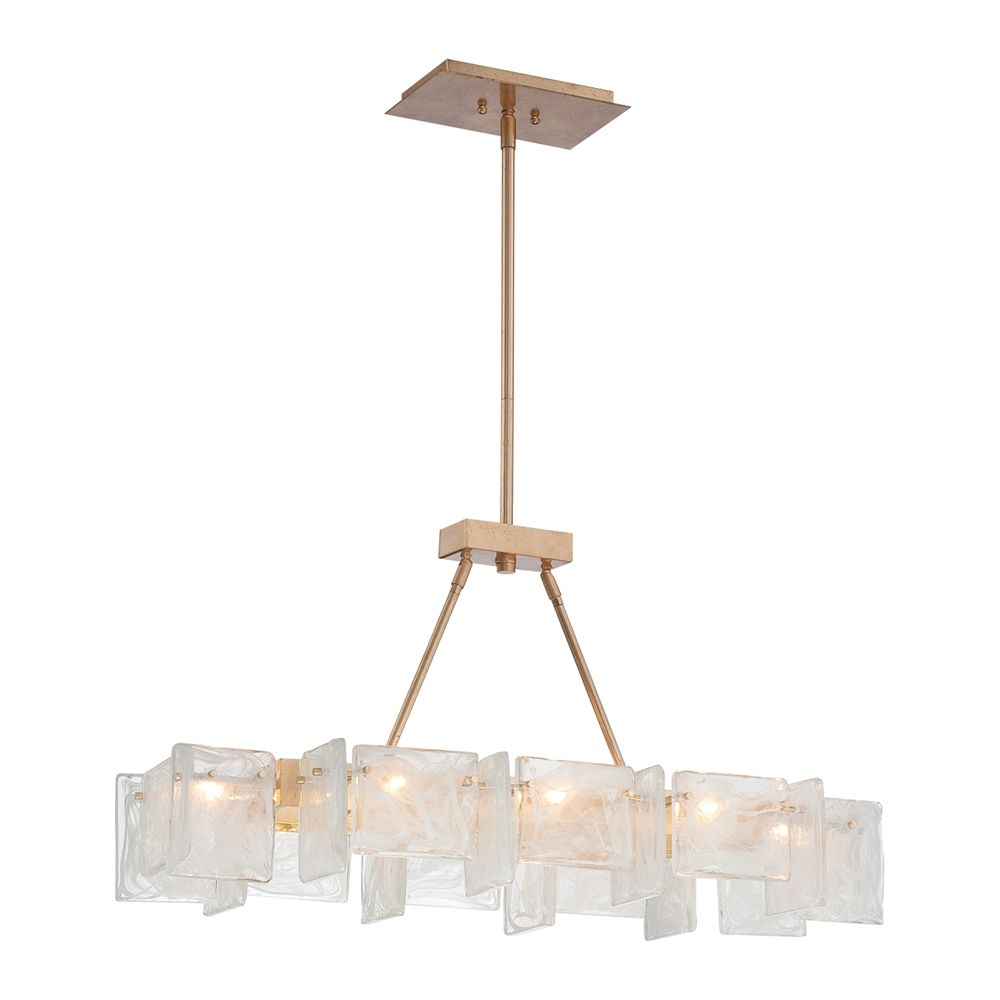 Shop metropolitan lighting n7288 595 arctic frost 8 light island metropolitan 8 light large linear chandelier with glass shades from the ar antique french gold indoor lighting chandeliers arubaitofo Gallery