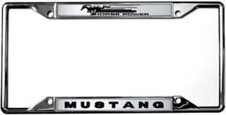Ford Mustang Horse Power License Plate Frame With Images