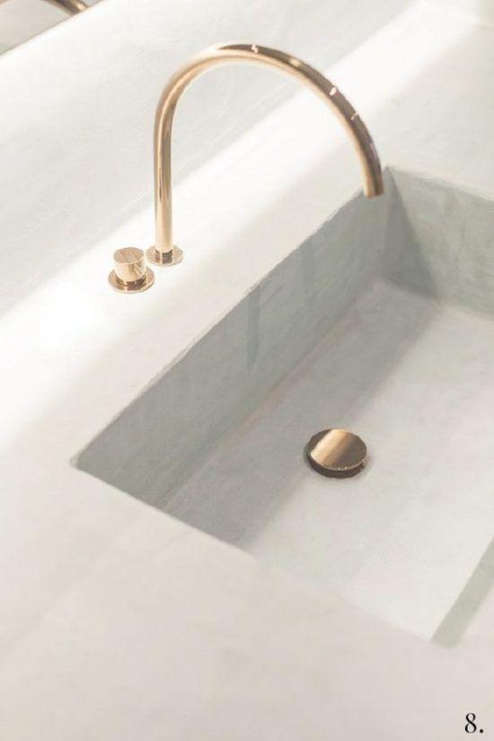 Gouden kraan in de badkamer | Interior | Pinterest