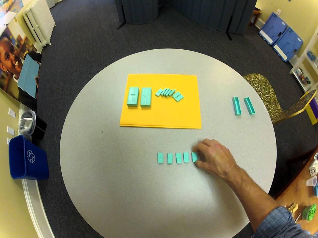 subtraction with borrowing.  digiblock.com #video