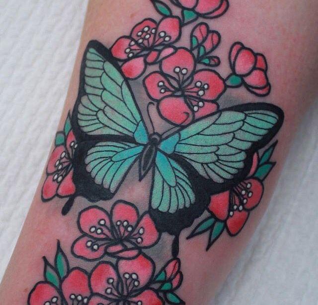 Butterflyflower Tattoo Tattoo Inspiration Tattoos Girly