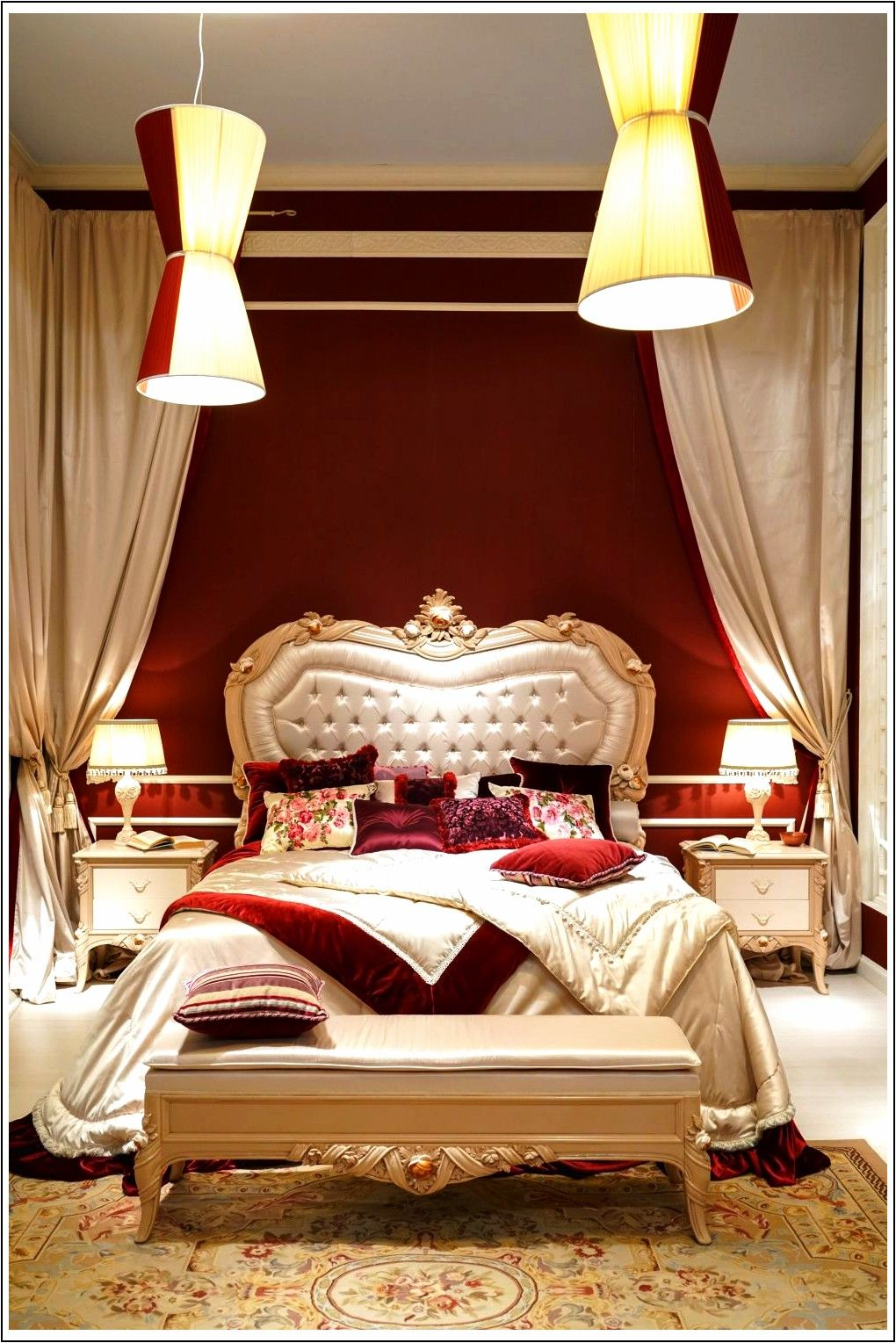 Barocco, stile rococò, per una camera da letto di lusso ...