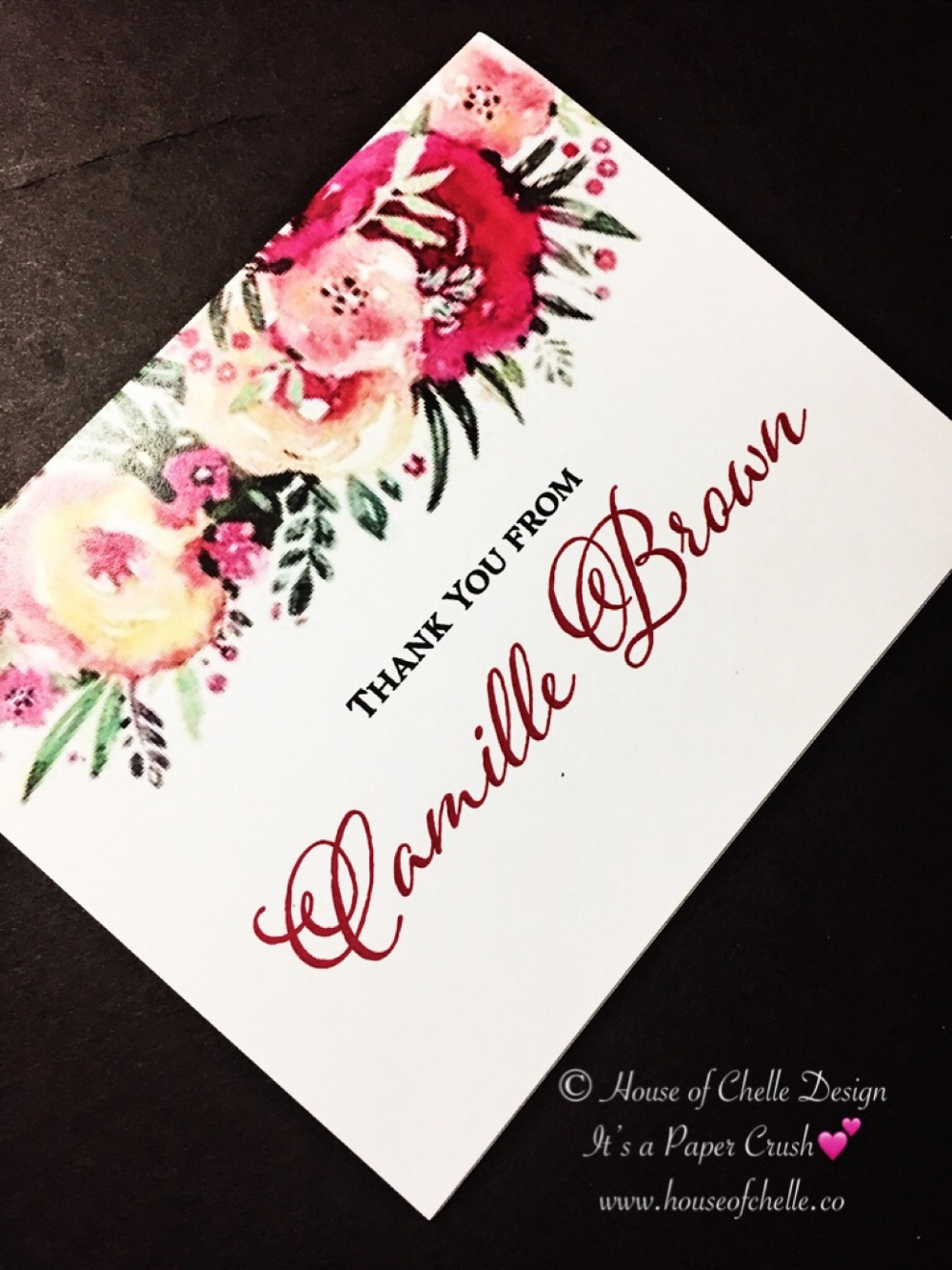 Bridal Shower Thank You Notes with Envelopes. Bridal
