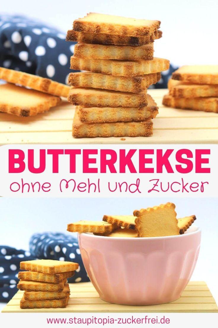 Butterkekse ohne Zucker zum Ausstechen - Staupitopia Zuckerfrei