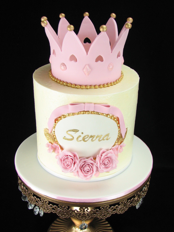 Princess Tiara Cake Baby Shower Ideas T Bolo