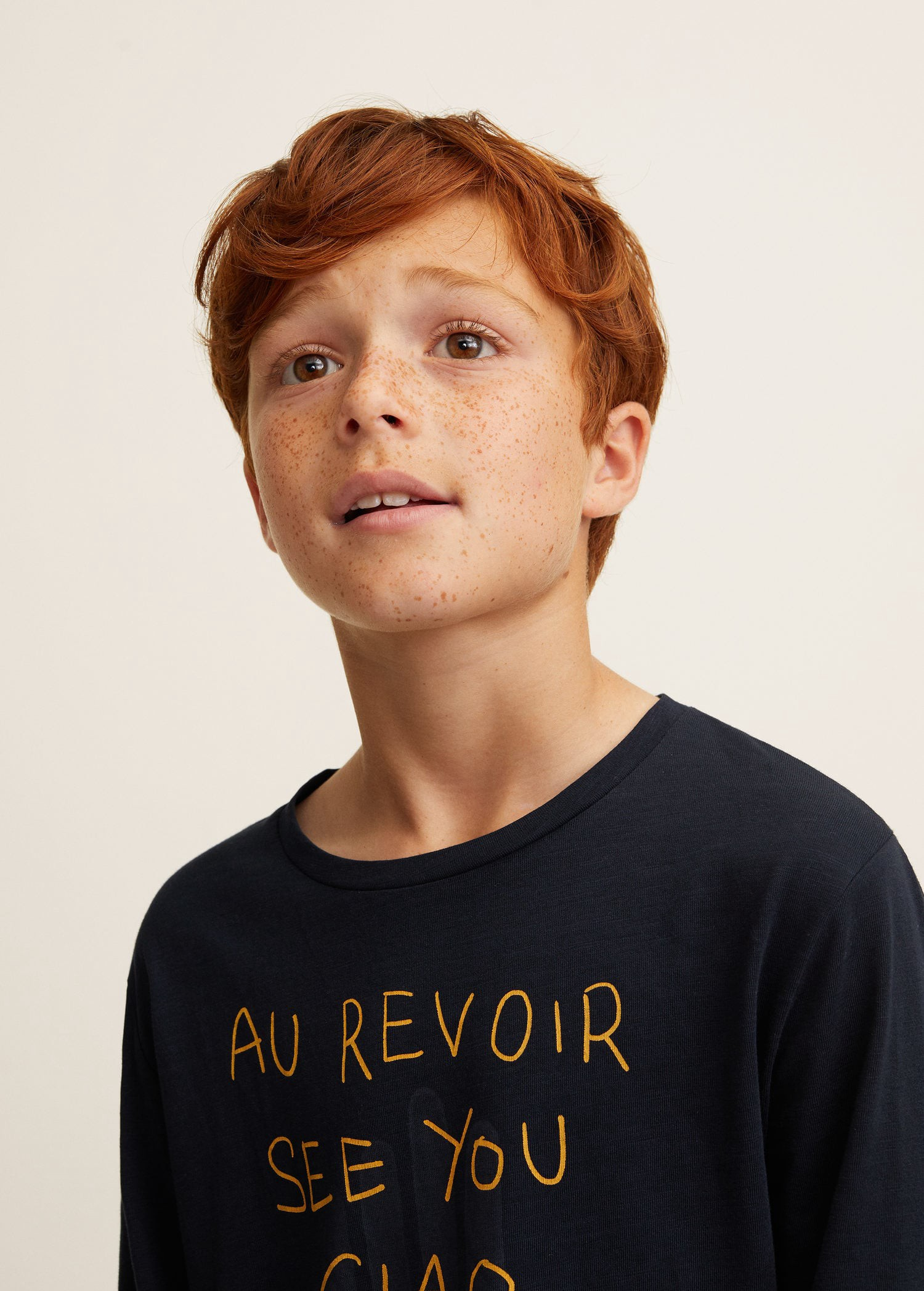 Mango Printed Cotton Blend T Shirt Off White 13 14 Years 164cm Boys Fashion Trends Little Boy Fashion Printed Cotton