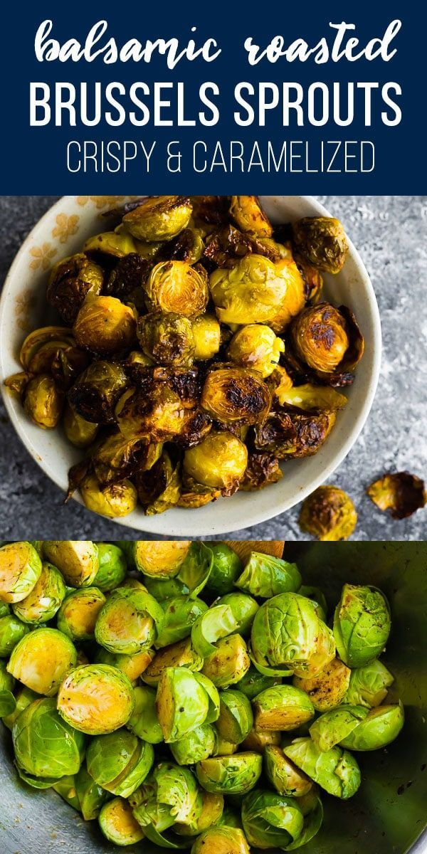 Balsamic Roasted Brussels Sprouts #brusselsproutrecipes