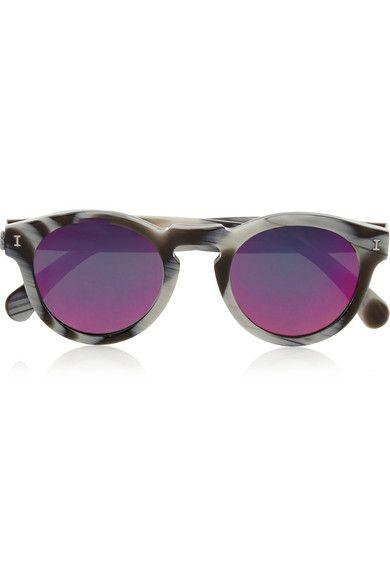 Illesteva | Leonard round-frame acetate mirrored sunglasses | NET-A-PORTER.COM