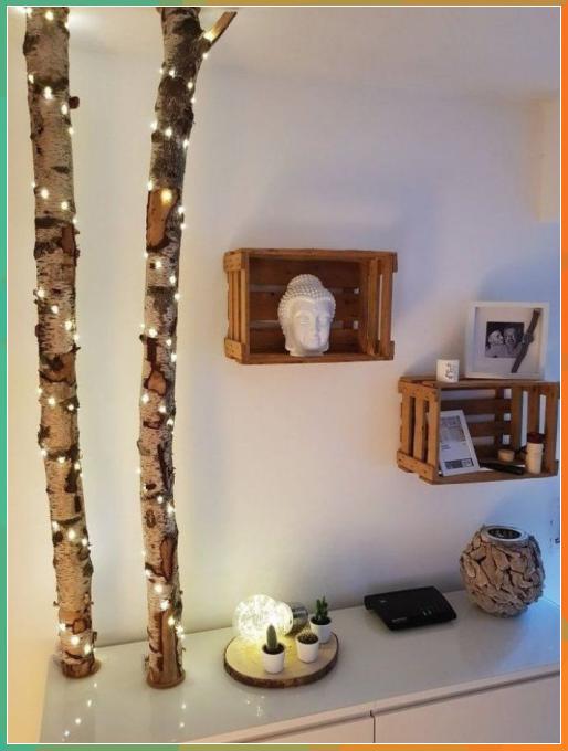 birkenstamm deko dekoration DIY legen   Landh ...