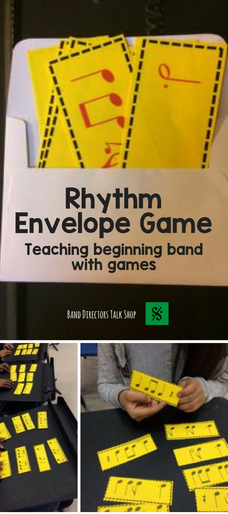 Click here to learn how to play the band rhythm envelope game – Theory Worksheets for Beginning Bands