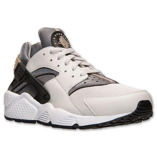 online store b1f42 46ca9 Men s Nike Air Huarache Run Running Shoes   Finish Line   Light Ash Grey  Black Cool Grey