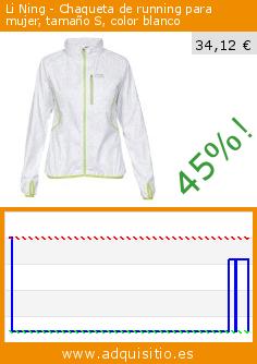 blanco para tamaño running S Li de Ning color Chaqueta mujer qxIaBz7w