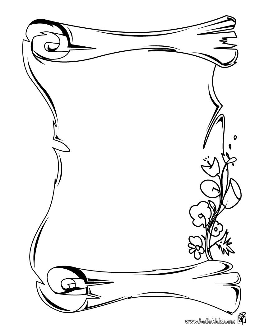 King Josiah Scroll Gallery Of Art Scroll Coloring Page at