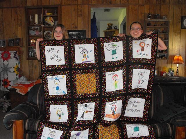 """""""cotton Theory Quilting"""" Done With Pre-k Artwork @Stitchin"""