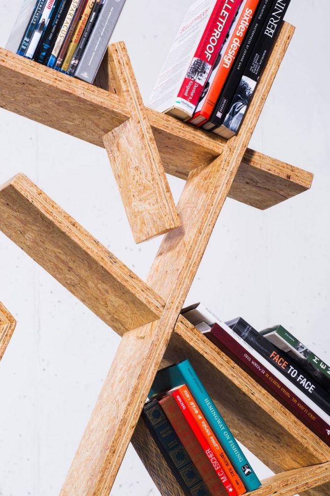 Möbel design regal  Indra Designer regal #OSB Platten asymmertische formen | OSB ...