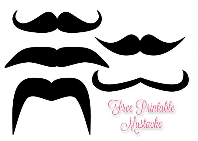 It's just a photo of Printable Mustache Templates throughout free printable