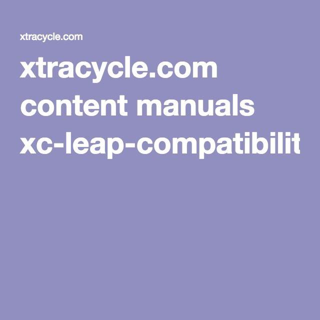 xtracycle.com content manuals xc-leap-compatibility-2016.pdf