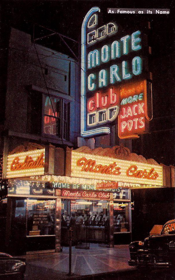 The Monte Carlo Club seen in the early years of the 1950's