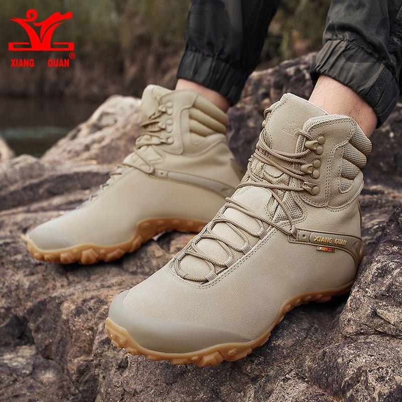 1b77b9d8506 2018 Xiang Guan Men Hiking Boots Warm Outdoor Sport Shoes Mens ...