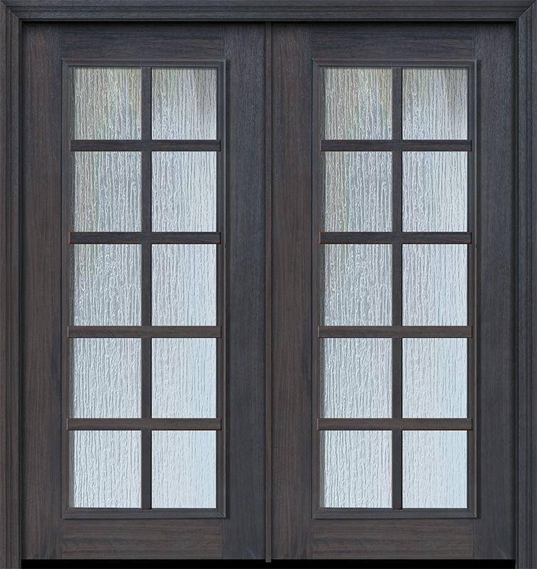 80 Double 10 Lite Sdl Full Lite Cherry Walnut Door Walnut Doors Exterior Doors Doors