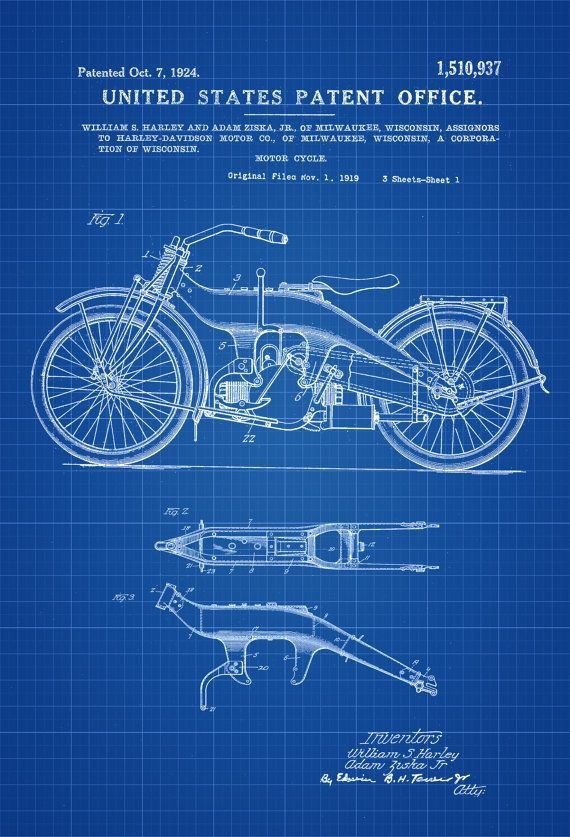 Pin by Tejas Wani on mac Pinterest Motorcycle posters, Harley - copy plane blueprint wall art