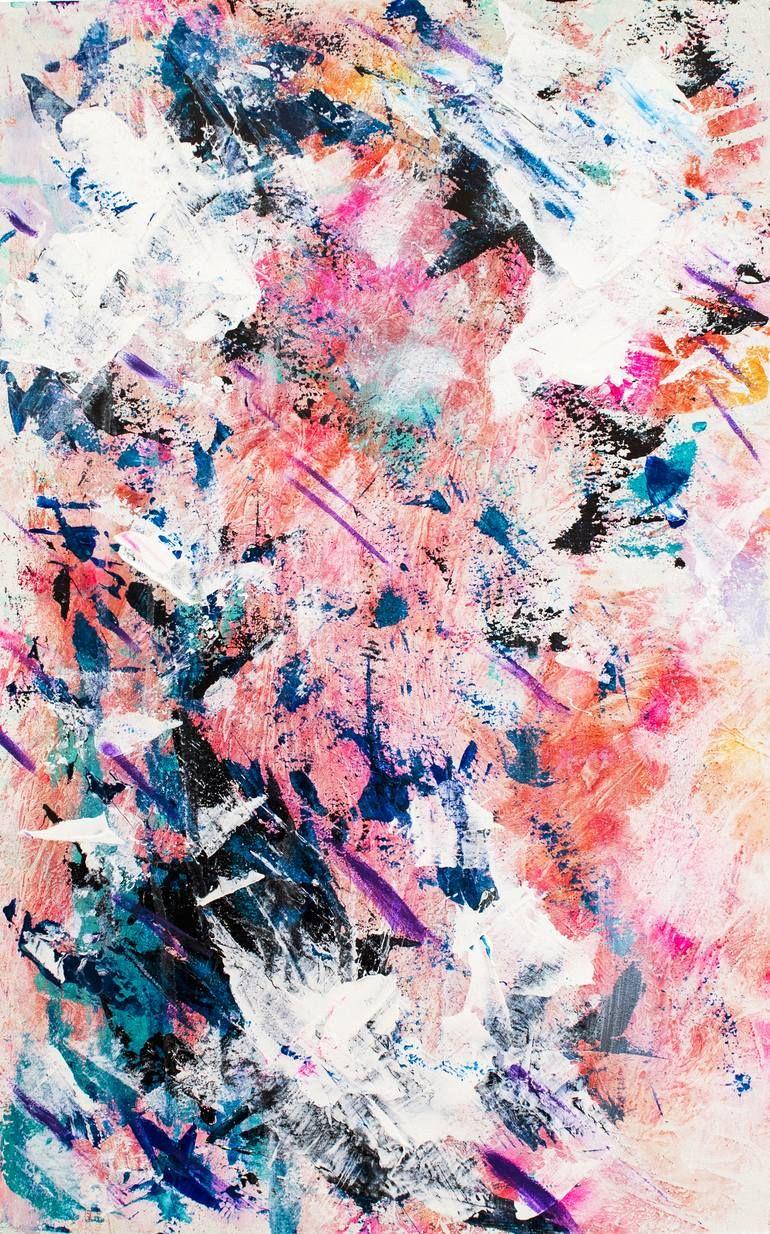 Original Abstract Painting by Emiliya Shender | Abstract Art on Cardboard | Sweet Dreams