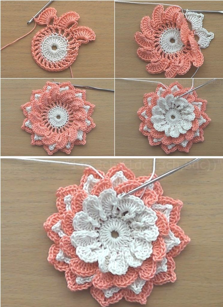 How to Crochet the Perfect Rose - Design Peak #irishlace