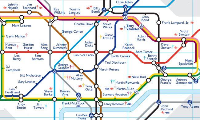 London Underground Football Map London Tube Map London