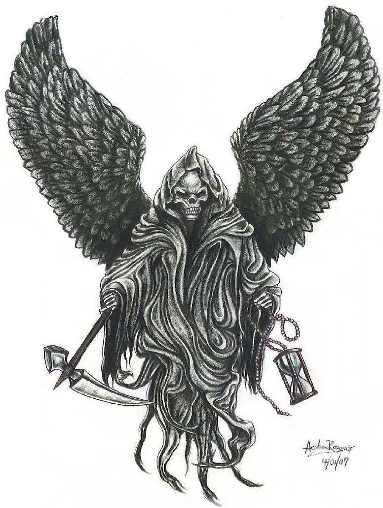Reaper With Wings Tattoos Tatuajes