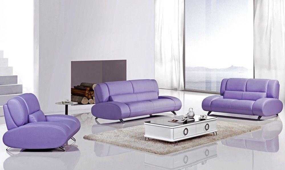Rita Purple Leather Sofa Set Contemporary Leather Sofa Purple Leather Sofas Sofa Design
