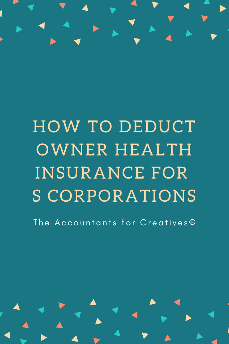 How To Deduct Shareholder Health Insurance For S Corporations
