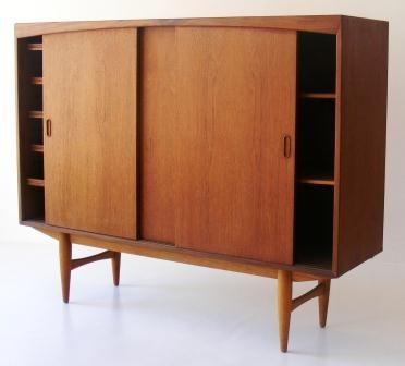 Sideboard Dresser Teak With 3 Sliding Doors Furniture Decor