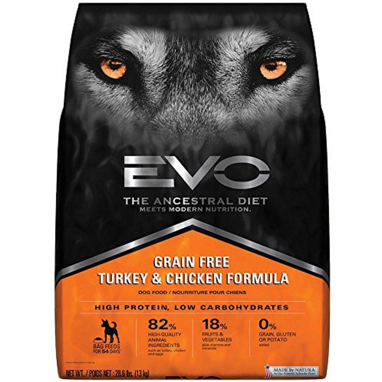 Evo grain free turkey and chicken formula large bites dry