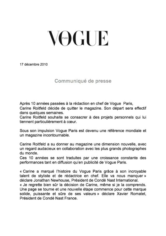 fashion press release
