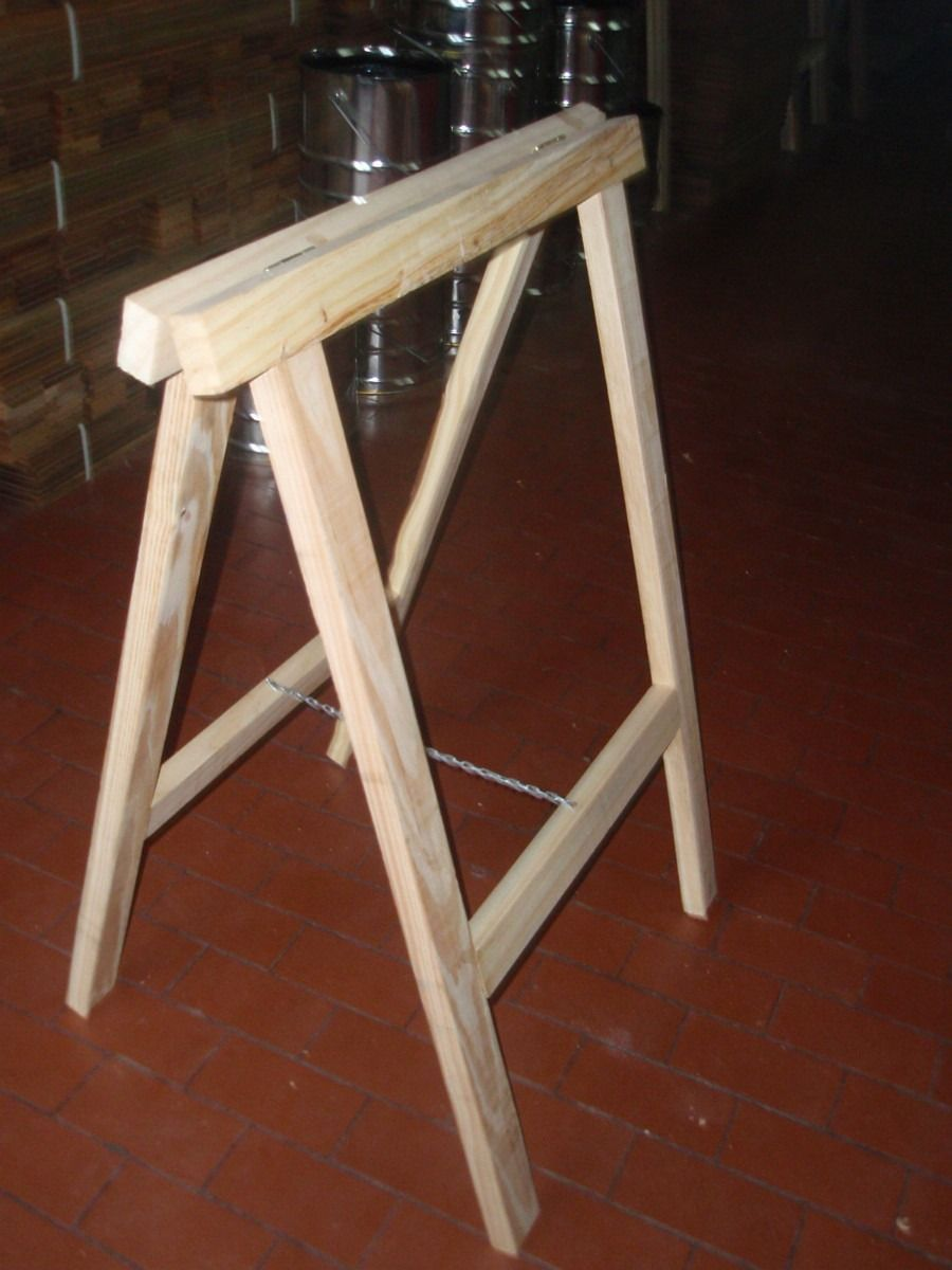 Como hacer caballetes de madera de b squeda bricolaje - Caballetes de madera ...