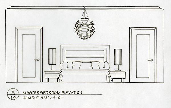 Detailed Elevation Drawings Kitchen Bath Bedroom On Behance Interior Design Drawings Elevation Drawing Living Room Elevation
