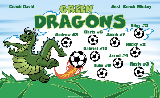 Green Dragons Banners Carnival Banners