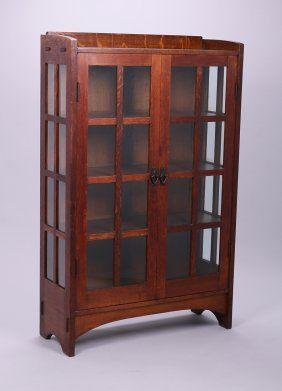 Gustav Stickley Two Door China Cabinet #815 : Lot 289
