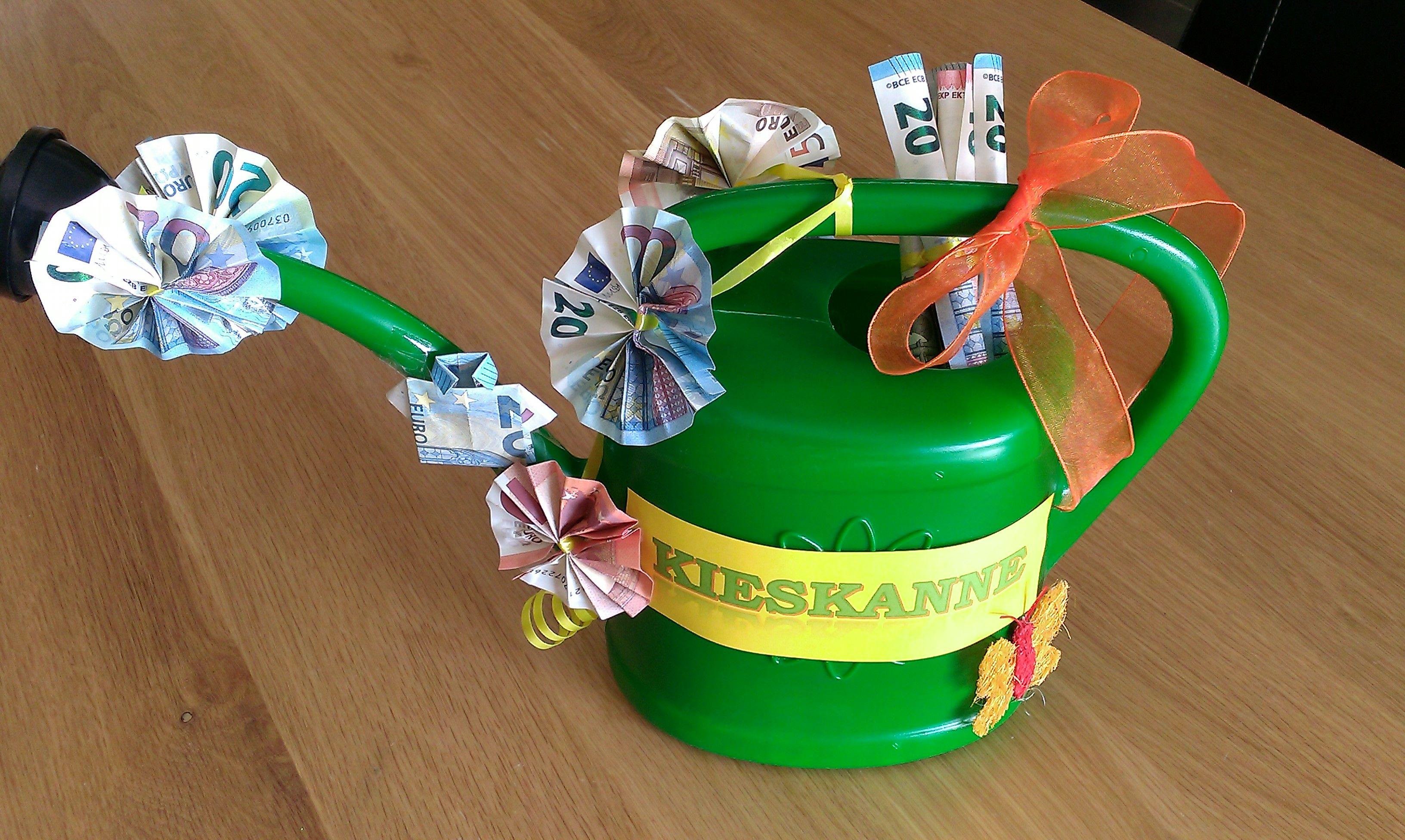 Geschenkidee Geldgeschenk Kieskanne Hochzeit Geschenk Geld