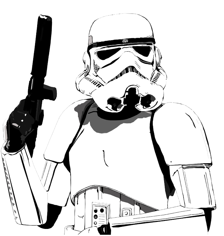 star-wars-stormtrooper-cartoon.png (730×768) (с изображениями)