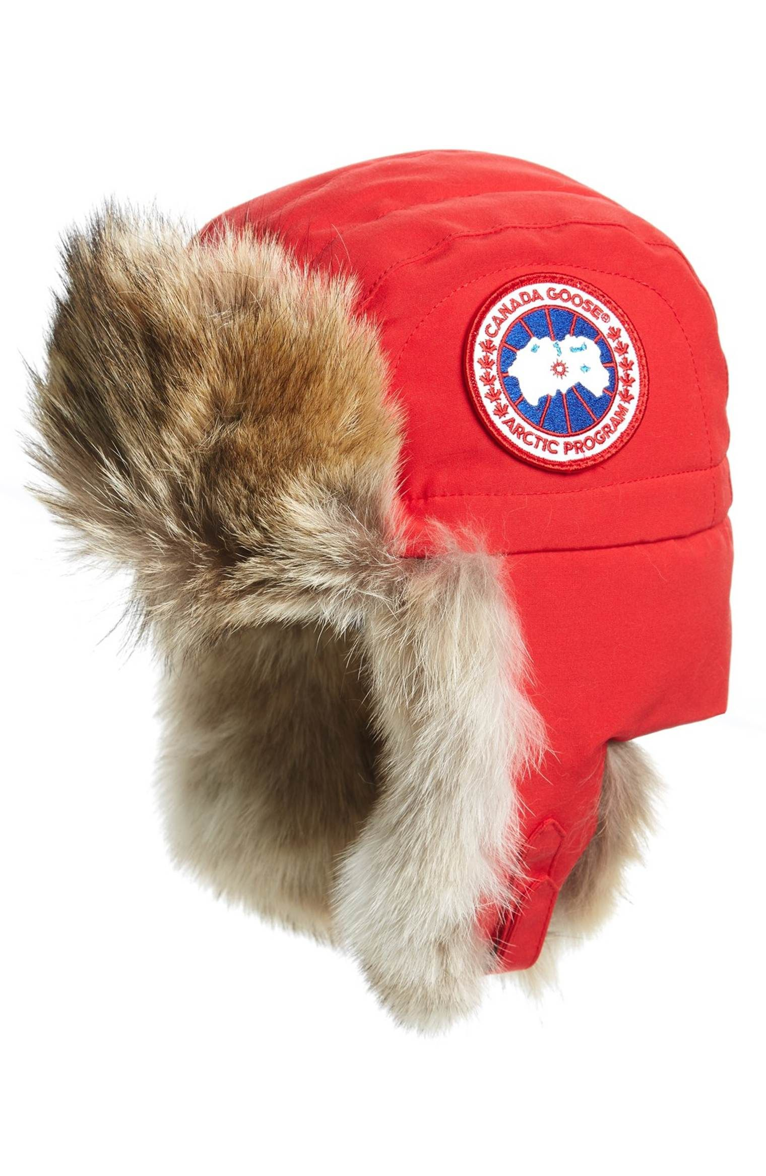 65ef114cc5e Main Image - Canada Goose Aviator Hat with Genuine Coyote Fur Trim ...