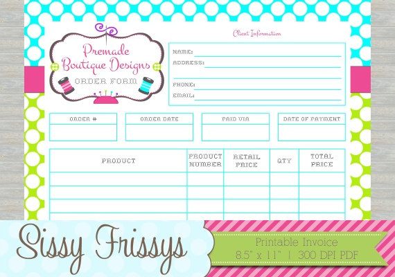 Personalized Printable Business Customer Invoice Business Etsy Invoice Design Business Customer Online Invoicing