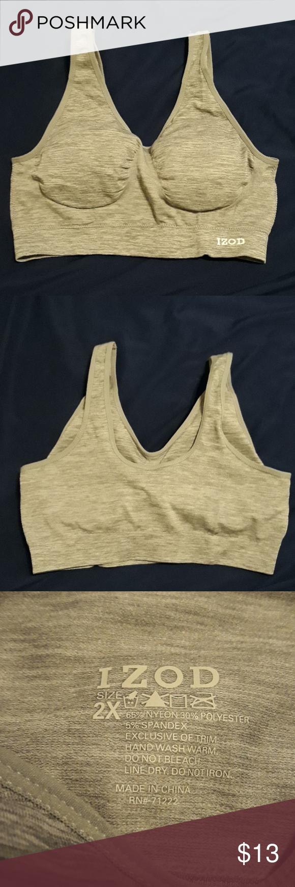 b34c24f71ea74 Izod Bra Izod Bra Size 2X Padding in the bra and no wire. Color  Gray NWOT  Offers Welcome  ) Izod Intimates   Sleepwear Bras